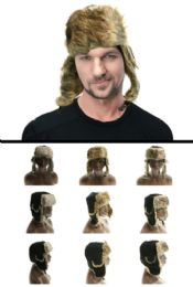 12 Units of Assorted Fur Colors Trapper Hat - Trapper Hats