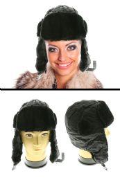 12 Units of Black Acrylic Trapper Hat - Trapper Hats