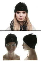 36 Units of Black Acrylic Winter Hat - Fashion Winter Hats