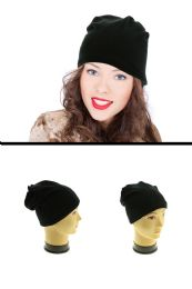 24 Units of Black Beanie Mixed Acrylic Andy Spandex - Fashion Winter Hats