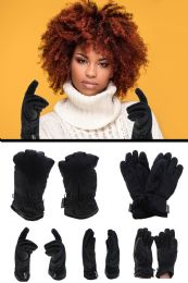 36 Units of Black Insulated Fashion Winter Gloves - Fleece Gloves