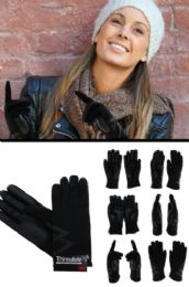 12 Units of Black Insulated Driving Gloves - Conductive Texting Gloves