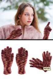 72 Units of Colorful Fuzzy Winter Gloves - Fuzzy Gloves