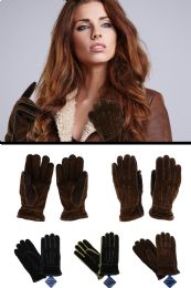 12 Units of Fashion Gloves in Black And Brown - Leather Gloves