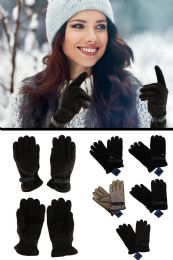 12 Units of Fashion Leather Gloves in Assorted Colors - Leather Gloves