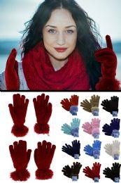 36 Units of Fuzzy Fashion Winter Gloves - Fuzzy Gloves