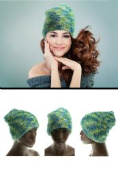 36 Units of Green Fabric Winter Hat - Winter Scarves