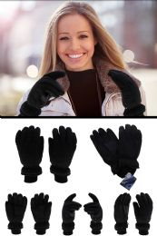 24 Units of Insulated Black Winter Gloves - Winter Gloves