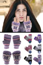 48 Units of Knit Fingerless Gloves - Winter Gloves