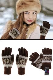 36 Units of Knit Touchscreen Compatible Winter Gloves in Assorted Colors - Conductive Texting Gloves