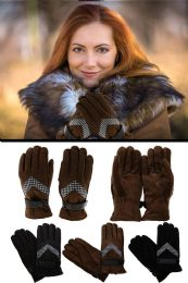 24 Units of Leather Fashion Winter Gloves - Leather Gloves