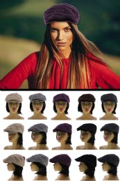24 Units of One Size Fits Most Newsboy Cap - Fedoras, Driver Caps & Visor