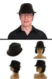 24 Units of One Size Fits Most Trilby Hat - Fedoras, Driver Caps & Visor
