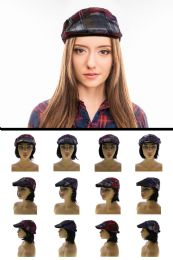 24 Units of Sizes Vary Plaid Newsboy Cap - Fedoras, Driver Caps & Visor