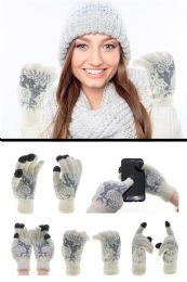 36 Units of Touchscreen Compatible Knit Gloves in Assorted Colors - Conductive Texting Gloves