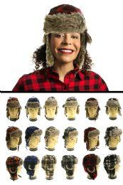 12 Units of Plaid Trapper Hat - Trapper Hats