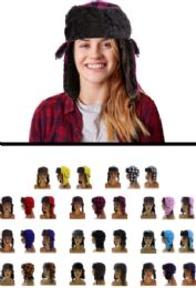 12 Units of Sizes Vary Plaid Trapper Hat - Trapper Hats