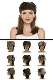 12 Units of Sizes Vary Synthetic Fur Trapper Hat - Trapper Hats