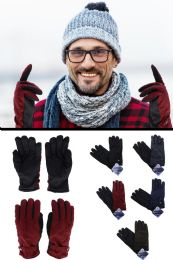 48 Units of Winter Gloves with Textured Grip - Conductive Texting Gloves
