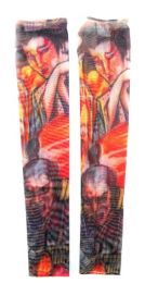 36 Units of Wearable Sleeve With Two Person Image Tattoo Design - Costumes & Accessories
