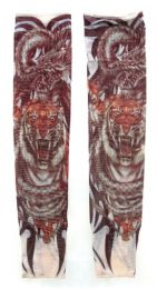 36 Units of Wearable Sleeve With Tiger Print Tattoo Design - Costumes & Accessories