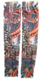 36 Units of Wearable Sleeve With Tiger And Drag Print Tattoo Design - Costumes & Accessories