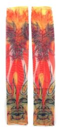 36 Units of Wearable Sleeve With Satan Image Over The Sun Tattoo Design - Costumes & Accessories