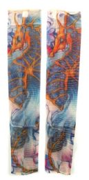 36 Units of Wearable Sleeve With Colorful Seahorse Tattoo Design - Costumes & Accessories