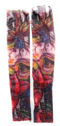 36 Units of Wearable Sleeve With Colorful Image Tattoo Design - Costumes & Accessories