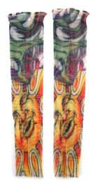 36 Units of Wearable Sleeve With A Dragon Over The Sun Tattoo Design - Costumes & Accessories