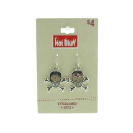 96 Units of Silver Tone Skull Earrings - Earrings