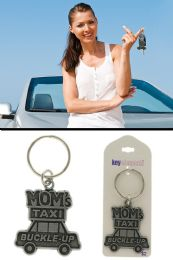 96 Units of Moms Taxi Buckle Up Funny Key Chain - Easter