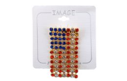 96 Units of Vertical Facing Flexible American Flag Pin - 4th Of July