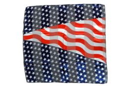 96 Units of Wavy American Flag Scarf Made Of Silky And Sheer Polyester - 4th Of July