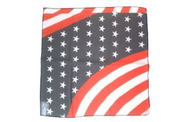 96 Units of American Flag Scarf Made Of Silky And Sheer Polyester - 4th Of July