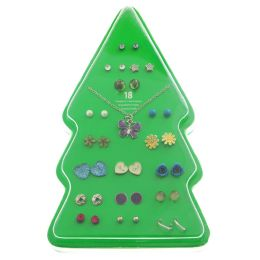48 Units of Gift Boxed Colorful Christmas Tree Earring Set - Christmas Decorations