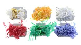 96 Units of Colorful Christmas Bow Barrettes - Christmas Decorations