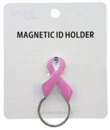 72 Units of Breast Cancer Awareness Magnetic Id Holder - Breast Cancer Awareness Socks