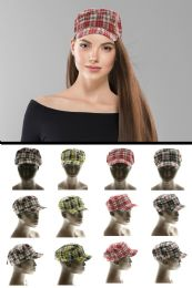 24 Units of Plaid Fashion Hat - Fedoras, Driver Caps & Visor