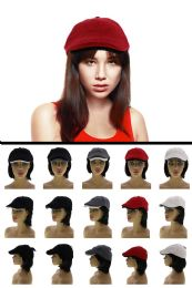 24 Units of One Size Fits Most Ribbed Newsboy Cap - Fedoras, Driver Caps & Visor