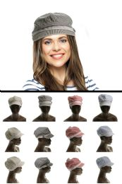 36 Units of Dacron Fashion Hat With Crystal Accents - Fedoras, Driver Caps & Visor