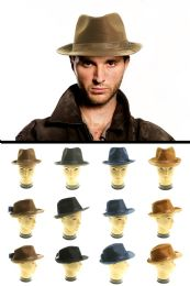 24 Units of Assorted Polyester Trilby Hat - Fedoras, Driver Caps & Visor