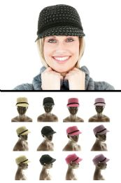 48 Units of Cadet Style Fashion Hat - Fedoras, Driver Caps & Visor