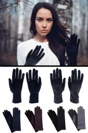 48 Units of Fashion Gloves In Assorted Colors - Knitted Stretch Gloves