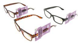48 Units of Assorted Acrylic Rectangular Reading Glasses - Reading Glasses
