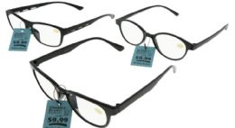 48 Units of Assorted Color Acrylic Rectangular Reading Glasses - Reading Glasses