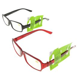 48 Units of Assorted Color Translucent Rectangular Reading Glasses - Reading Glasses