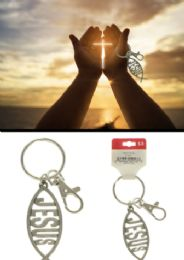 96 Units of JESUS Fish Keychain - Key Chains
