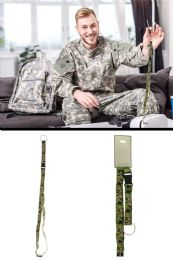 96 Units of Lanyard With Detachable Split Ring Key Chain With Camouflage Pattern - Key Chains
