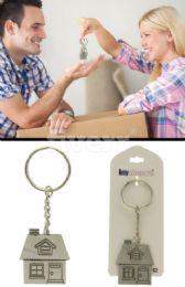 96 Units of Silver Tone House Key Chain - Key Chains